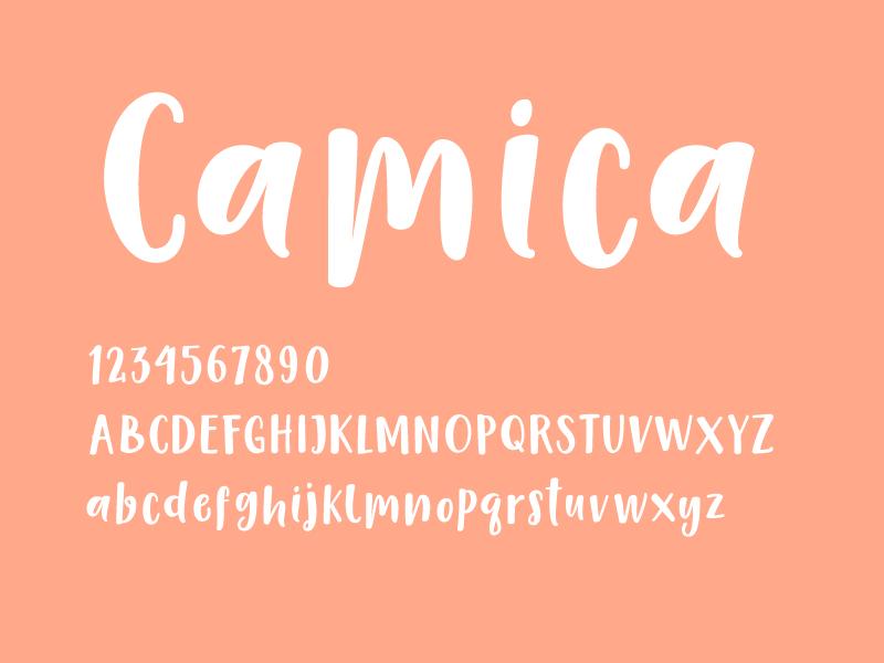 字母字体 英文字体Camica