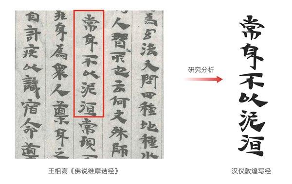汉仪菱心字体 汉仪敦煌写经