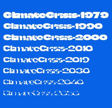 警告全球气候危机 The Climate Crisis Font(气候危机字体)