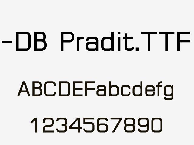 手写英文字体 -DB Pradit.TTF一款不错的英文字体