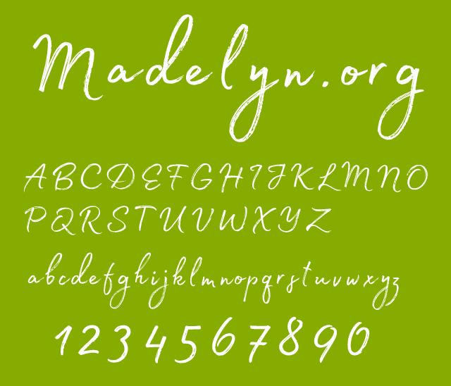 PS字体 一款常用的英文字体Madelyn Regular.otf